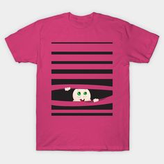 Baby Peeking Out Stripes Pregnancy Announcement baby-peeking-out Classic T-Shirt Announcement, Classic T Shirts, Hot Pink, Graphic Tees, Shirt Designs, Pregnancy, Stripes, Fabric, Mens Tops
