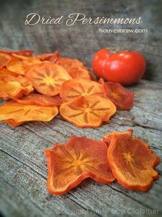 Dried Persimmons (Raw, Vegan, Gluten-Free, Dehydrator)