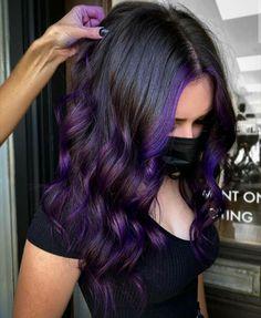 Pretty Hair Color, Hair Color Purple, Hair Dye Colors, Hair Color For Black Hair, Fall Hair Color For Brunettes, Fall Hair Colors, Purple Ombre, Pastel Purple, Dark Purple