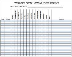 tractor maintenance schedule template