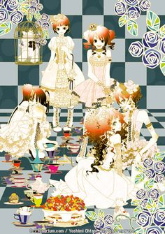 【title】Mad tea party  狂茶会 / 【comment】Gothic & Lolita.  The idea is obtained from Alice in Wonderland.