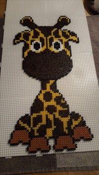 Giraffe hama beads by misscarstensen Pattern… Hama Beads Design, Diy Perler Beads, Perler Bead Art, Pearler Beads, Pearler Bead Patterns, Perler Patterns, Art Perle, Motifs Perler, Fusion Beads