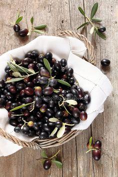 fresh black olives