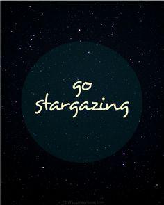 Go stargazing! Tips for DIY star photography + a free illustrated printable, from TheFlourishingAbode