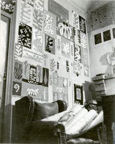 MoMA | Henri Matisse: In the Studio. Matisse's studio wall at the Villa le Rêve, Vence, c. 1948. Photo: akg-images / Archivio Cameraphoto Epoche
