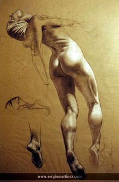 Nice study for light and shadows on body. Sergio Martinez