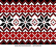 Nordic pattern with snowflakes. Mosaic in Scandinavian, Norwegian style. by SiwaBudda, via Shutterstock