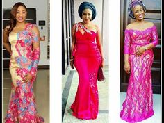Superb Lace, Velvet And French Lace Asoebi Styles You Can't Resist To Ro...