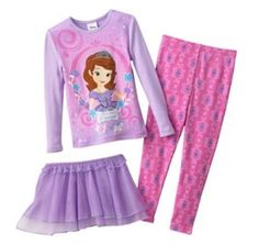NWT Disney Sofia the First Tutu Pajama Set- Size 3T #Disney #ThreePiece