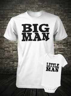 Father and Son Shirt Set Big Man Shirt Little Man Shirt Combo Fathers Day Shirt Fathers Day Shirts, Big Brother Little Brother, Father And Son, Daddy And Son, Mein Sohn, Little Babies, Men And Babies, Boy Babies, Little Man