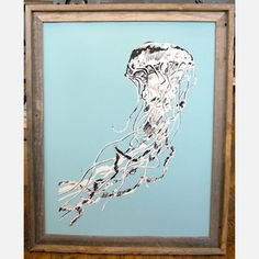 Hearty Hand-Pulled Screen Prints - Jellyfish print. Want!