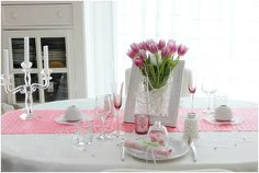 Décoration de table pour la St Valentin