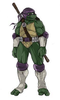 TMNT ninja turtles next mutation sketch of Donatello by KingJames06 on deviantART