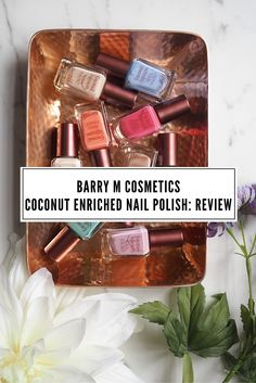 London Beauty Queen Blog Post: Click through to read the full review of Barry M Coconut Enriched Nail Polish products. Drugstore London beauty company: Cruelty free colour cosmetics. Like this? Don't forget to share it!