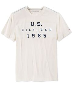 Tommy Hilfiger Men's Graphic Print T-Shirt Mens Polo T Shirts, Mens Tees, T Shirt Logo Printing, My T Shirt, Tshirts Online, Tommy Hilfiger, Graphic Tees, Man Fashion, Men's Style