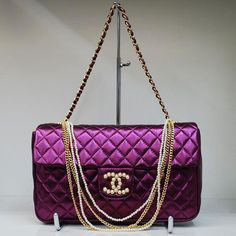 Chanel Shiney Purple Handbag