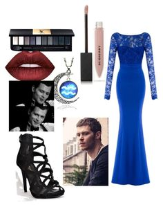 """""""Going to a Gala with Niklaus Mikaelson       I am overly obsessed with the Originals"""" by luvuallthetime ❤ liked on Polyvore featuring Yves Saint Laurent, Burberry and Lime Crime"""