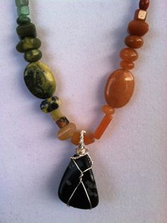 SemiPrecious Gemstone Earth Rainbow Necklace with by TripIntoLight, $26.00