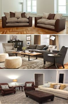 Mixing Leather And Fabric Sofas