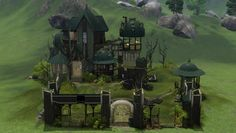 Inventor's mansion shadow of a Madman's Dream by Crowkeeper - Sims 3 Downloads CC Caboodle