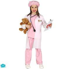 Disfraz de veterinaria rosa para niña