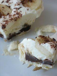 Banana Cream Pie with Chocolate and Caramel