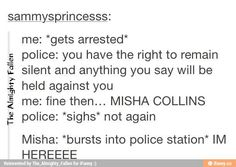 """If that's all it takes, I will shout  """"Jensen Ackles and Misha Collins"""""""