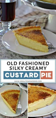 Old Fashioned Silky Creamy Custard Pie is a new family favorite! This easy dessert recipe brings eggs cream milk sugar and vanilla into an incredibly delectable treat that is prepped in a matter of minutes. Best enjoyed when chilled! Save this and try it! Pudding Desserts, Custard Desserts, Köstliche Desserts, Delicious Desserts, Dessert Recipes, Custard Pies, Lemon Custard Pie, Vanilla Custard, Custard Pie Recipe Easy
