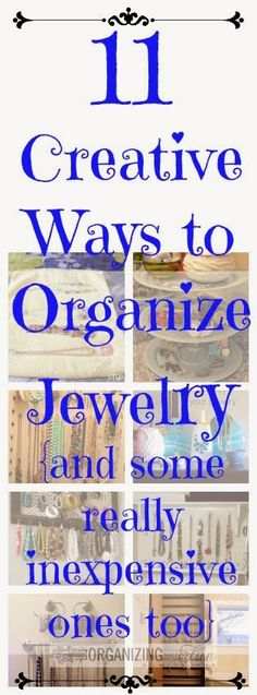 11 Creative Ways to Organize Jewelry {and some inexpensive ones, too} :: OrganizingMadeFun.com
