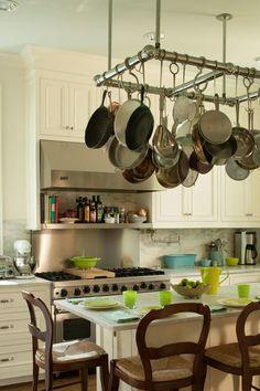 Rustic Country Primitive Hanging Pot Rack  Pot Rack Furniture Pleasing Kitchen Pot Rack Design Ideas