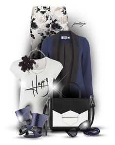 Oh, Happy Day! by rockreborn on Polyvore featuring Weekend Max Mara, Giuseppe Zanotti, Karl Lagerfeld, Bling Jewelry, Karen Walker, Lanvin, polyvorecommunity and polyvoreeditorial