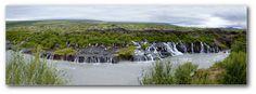 https://flic.kr/p/dy2aXS |  Hraunfossar (Borgarfjörður, western Iceland) The waterfalls pour into the Hvítá river from ledges of less porous rock in the lava. The Hraunfossar are situated near Húsafell and Reykholt and lava-tube cave Víðgelmir is close by.