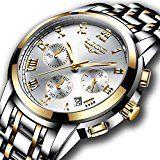 Watches Mens Full Steel Quartz Analog Wrist Watch Men Luxury Brand LIGE Waterproof Date Business Watch Casual Watches, Cool Watches, Watches For Men, Men's Watches, Silver Watches, Latest Watches, Quartz Watches, Mens Watches Leather, Shows