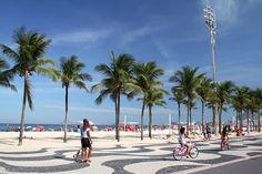 City of Copacabana in Rio de Janeiro, Brazil. On a beautiful sunny day.