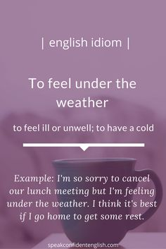 English Idioms. A very common idiom to use in your daily English. Join me every week for free lessons at Speak Confident English: http://www.speakconfidentenglish.com/?utm_campaign=coschedule&utm_source=pinterest&utm_medium=Speak%20Confident%20English%20%7C%20English%20Fluency%20Trainer