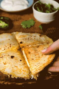 Ahhh— proof that you've created the perfect quesadilla. This Cheese 'N Rice Quesadilla recipe will make your family's mouths water and your hearts skip a beat: 1. Bring water, Spread, Knorr® Fiesta Sides™ - Mexican Rice and chiles to a boil. Reduce heat and simmer until rice is tender. 2. Layer components in the following order: tortilla, rice mixture, cheese, another tortilla. 3. Broil until tortillas are toasted and cheese melted.