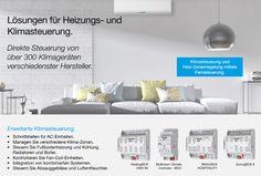 Heizungs- und Klimasteuerung, ganz einfach mit Zennio: http://zennio-deutschland.de/produkte/klimaFoto