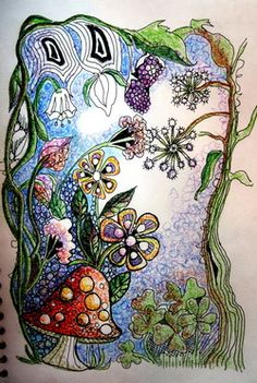Beautiful zentangle - loads more to see ** love them all **