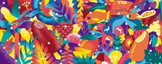 Illustration for a mural in collaboration with Akacorleone and Cantê for The Fruit Collection Campaign from Solero. WIP The Fruit Collection . Jungle Illustration, Box Design, Fruit, Painting, Collection, Behance, Paintings, Underworld, Painting Art