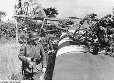 Crashed Waco Glider; Nazi's investigating.