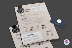 Modern, elegant CV template by Chic templates on @creativemarket