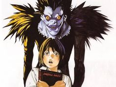 "Takeshi Obata's ""Black et Noir"" Artbook: Death Note -- Obata is such a freaking genius! Death Note デスノート, Death Note Light, Tsugumi Ohba, Popular Anime, Manga Artist, Shinigami, Manga Illustration, Wallpaper, Cartoon Characters"