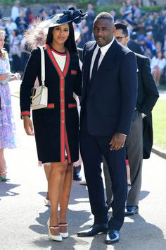 Oprah Winfrey Arrives at Royal Wedding with Idris Elba!: Photo Oprah Winfrey and Idris Elba make their arrivals to St. George's Chapel at Windsor Castle to attend the Royal Wedding on Saturday morning (May in Windsor, England. Royal Wedding Guests Outfits, Royal Wedding Prince Harry, Princess Harry, Harry And Meghan Wedding, Royal Weddings, George Clooney, Amal Clooney, Idris Elba, Prince Harry Et Meghan