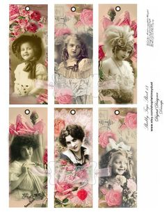 Digital collage sheet Vintage shabby chic tags 13  by whimsydust, $4.15
