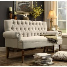"""iNSTANT HOME Hermosa 60"""" Flared Arm Settee 