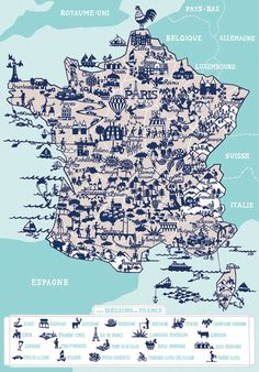 map of france.