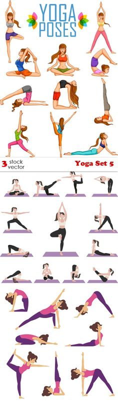 Vectors - Yoga Set 5-
