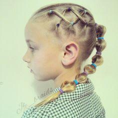 Bubble braid for little girls