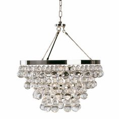 Bling Chandelier, Bling Chandeliers & Robert Abbey Chandeliers   YLighting And check out the flush mount version. AND the sconces! Necklace and earrings?