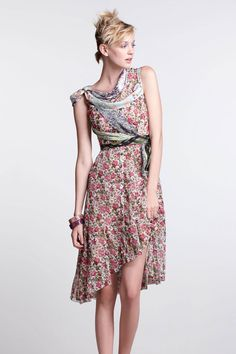 Wilderflora Flounce Dress- Beguile by Byron Lars at Anthropologie